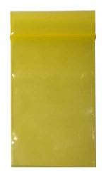 100 Zip-Tüten 40 x 60 mm gelb