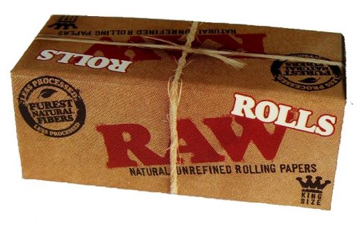 RAW unrefined papers on roll