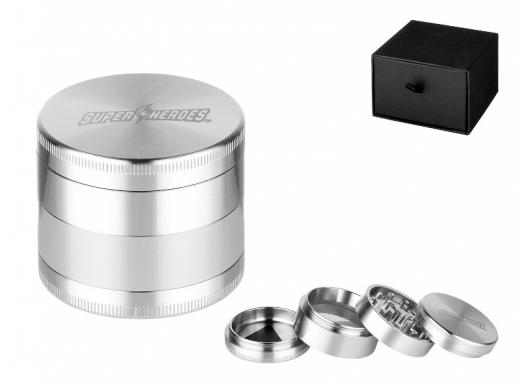 Stainless steel grinder Super Heroes 4-parts ø 54 mm