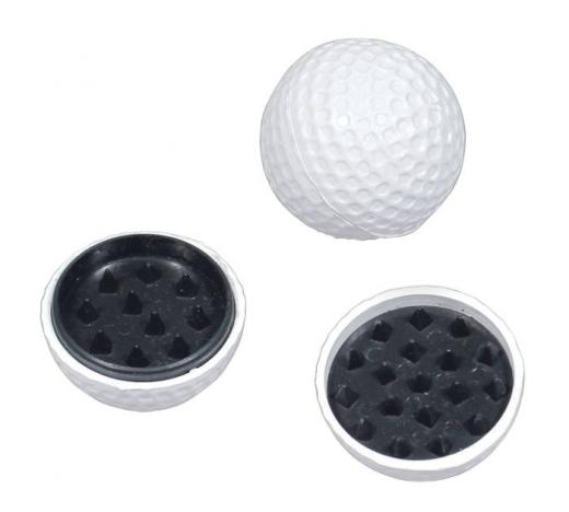 Golfball-Grinder, weiß, 4cm Durchmesser