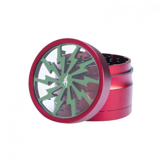 Alu Grinder Thorinder von After Grow 62 mm, 4 teilig rot/grün