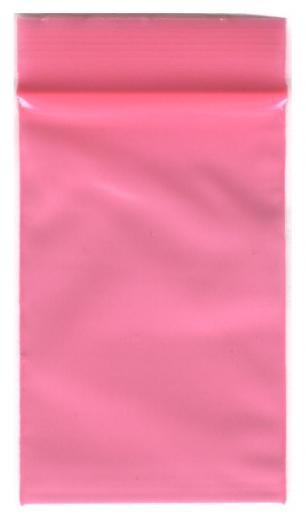 100 Zip-Tüten 40 x 60 mm pink