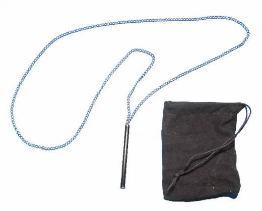 Ziehröhrchen Metall an Halskette