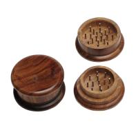 Holz-Grinder einfach aus dunklem Holz, ca. 55 mm