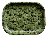 Rolling tray metal 18 x 14 cm Buds