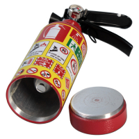 Hand-held extinguisher with secret compartment